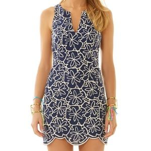Lilly Pulitzer Augusta Navy Shift Dress 10